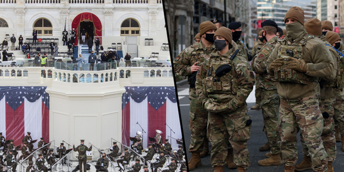Pictures Show Preparations Beginning for Joe Biden's Inauguration With High Level Security