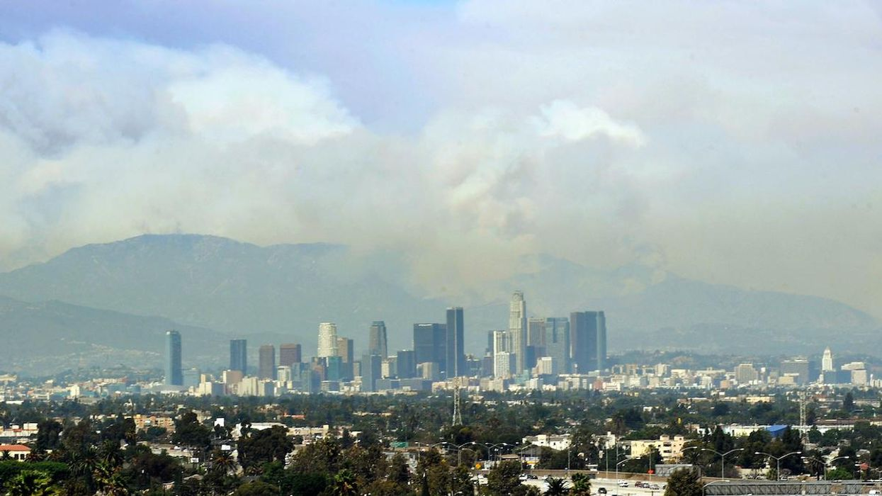 Downtown Los Angeles Under Rare Wildfire Risk as Strong Winds Rattle California