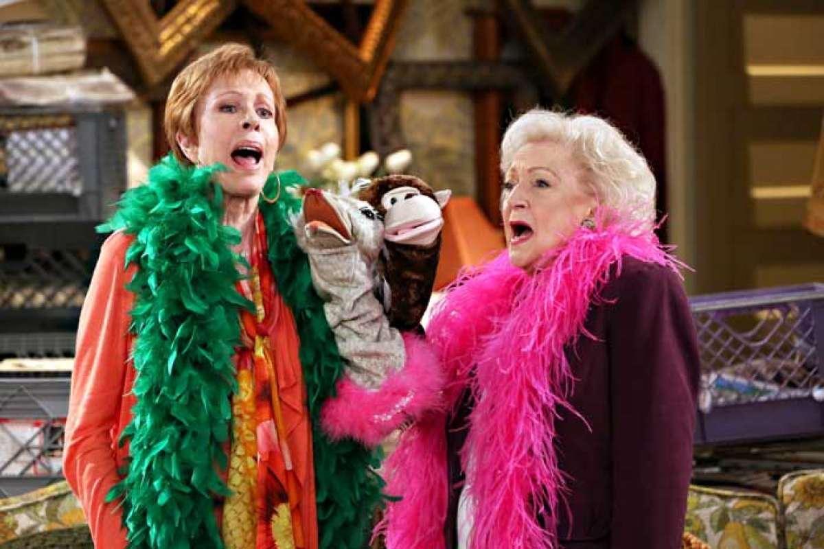 Carol Burnett and Betty White