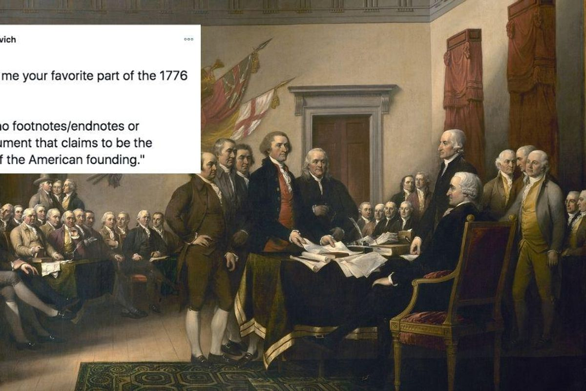 The 1776 Report is rife with 'errors, distortions, and outright lies' say historians