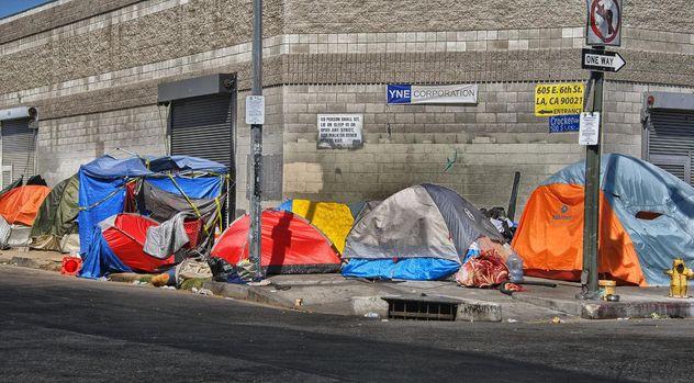 homeless camp los angeles