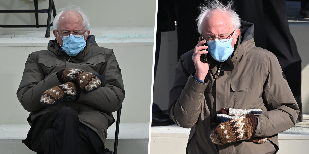 Everyone Is Obsessed With Bernie Sanders' Mittens at the Inauguration