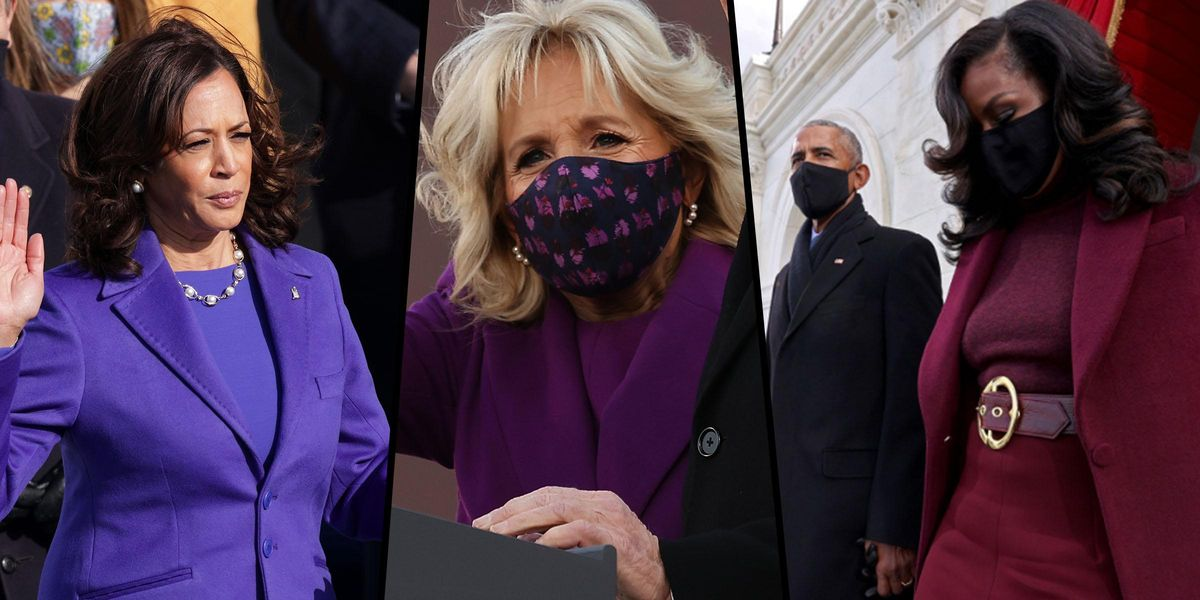 There's a Hidden Meaning Behind All the Purple Outfits at Biden's Inauguration