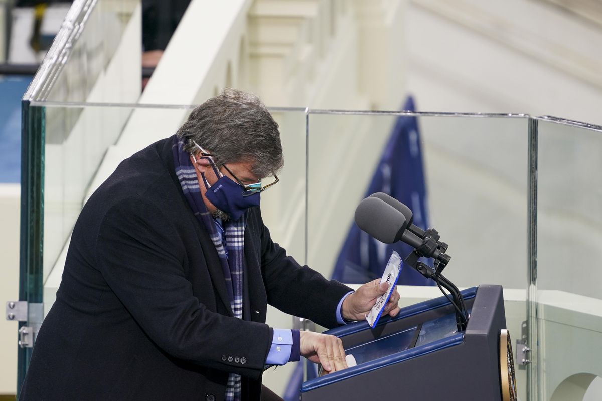 The Inauguration's Podium Disinfector Is Now a National Icon