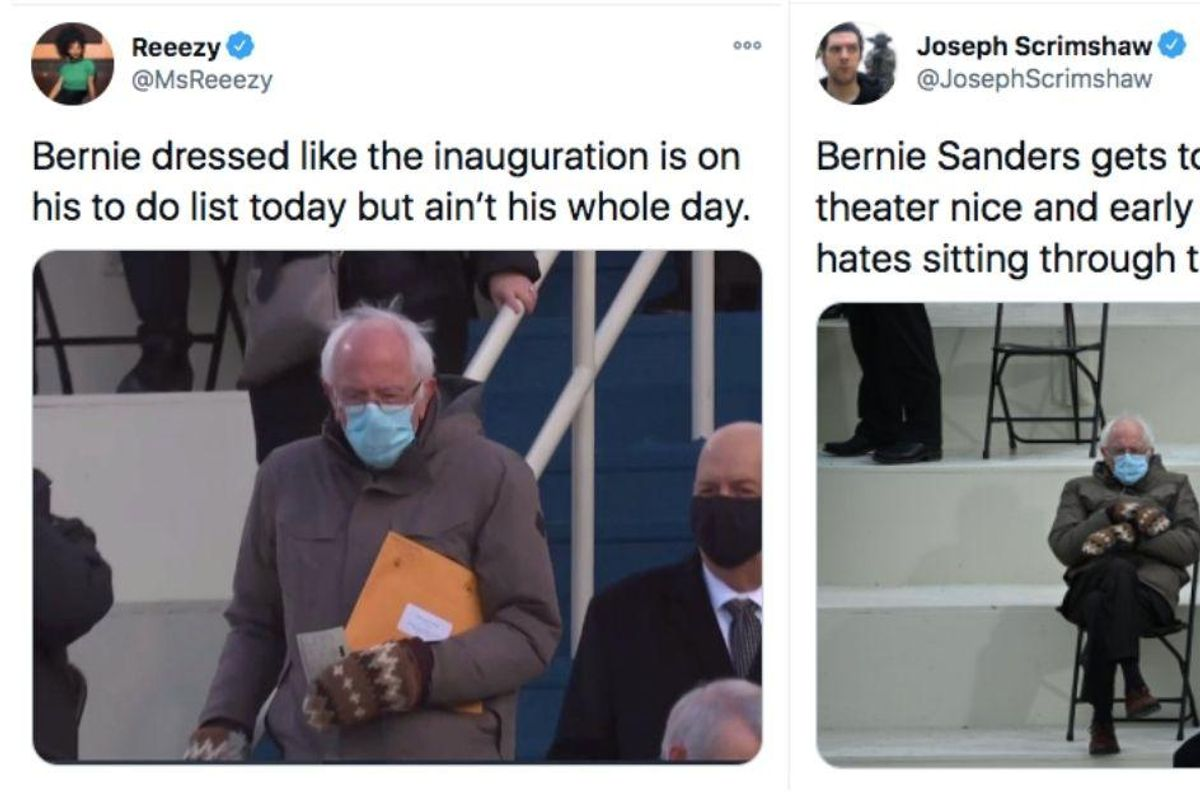 Bernie Sanders delights Inauguration audience by simply being his adorably authentic self