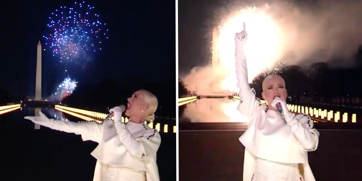 Katy Perry Stole The Show During 'Celebrating America' With Firework Performance