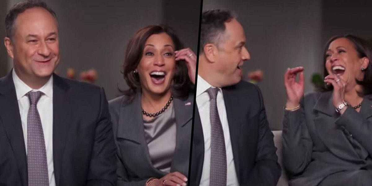 Kamala Harris Gets Flustered Admitting She Googled Doug Emhoff Before They Met
