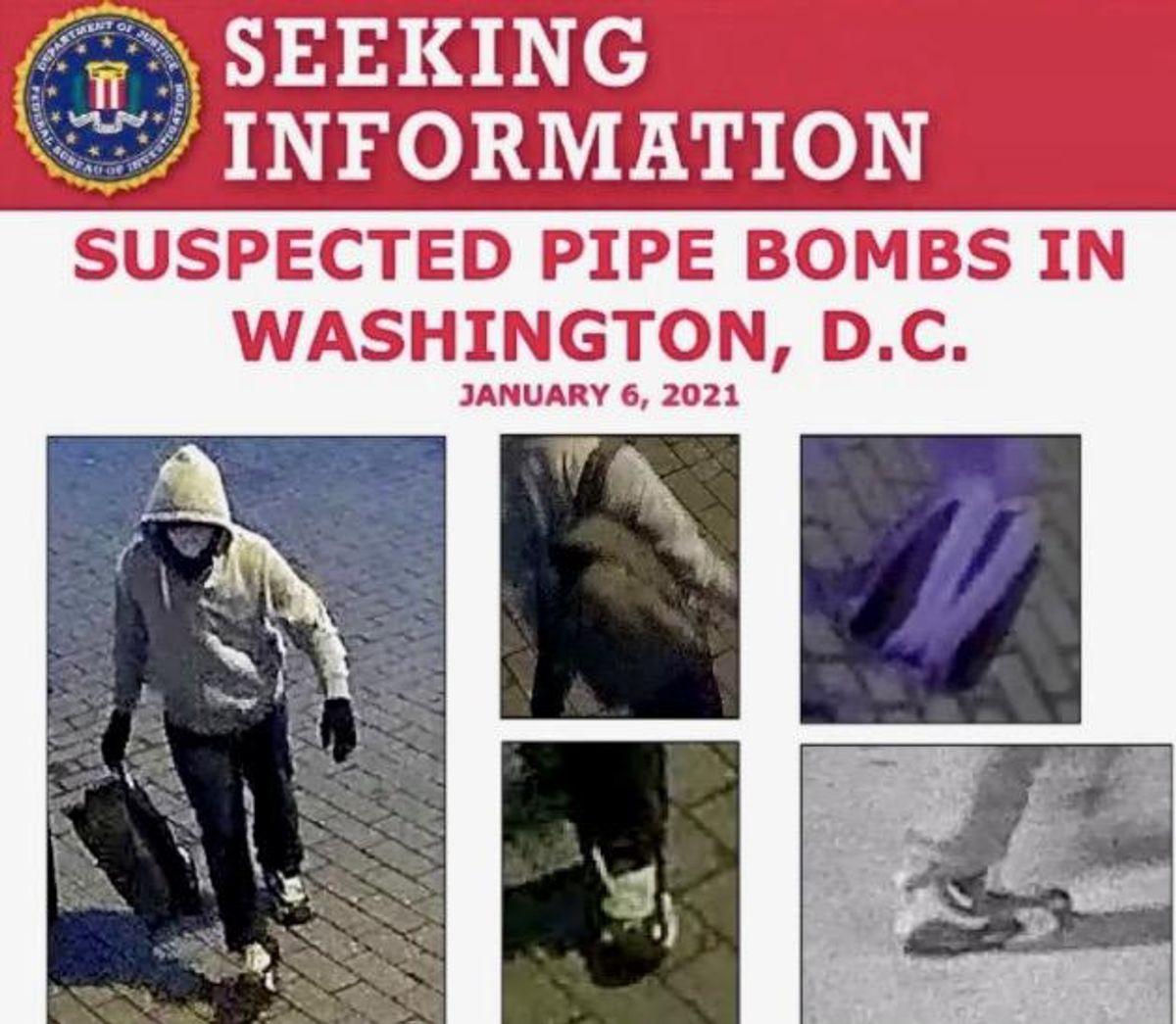 FBI offers $75,000 reward for Capitol pipe bomb suspect