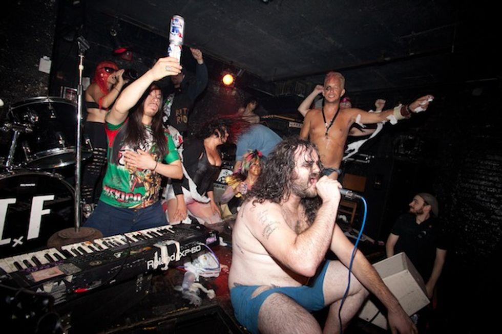 Performative Punk Troupe Juggernut's Cuckoo-Crazy Set at the Pyramid