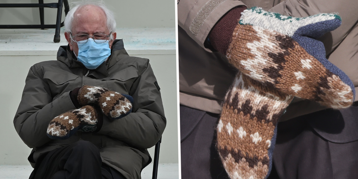 There's a Heartwarming Story Behind Bernie Sanders' Inauguration Mittens