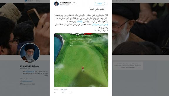 Iran tweets threats of violent revenge against Trump — but Twitter took its sweet time removing the message and people are noticing