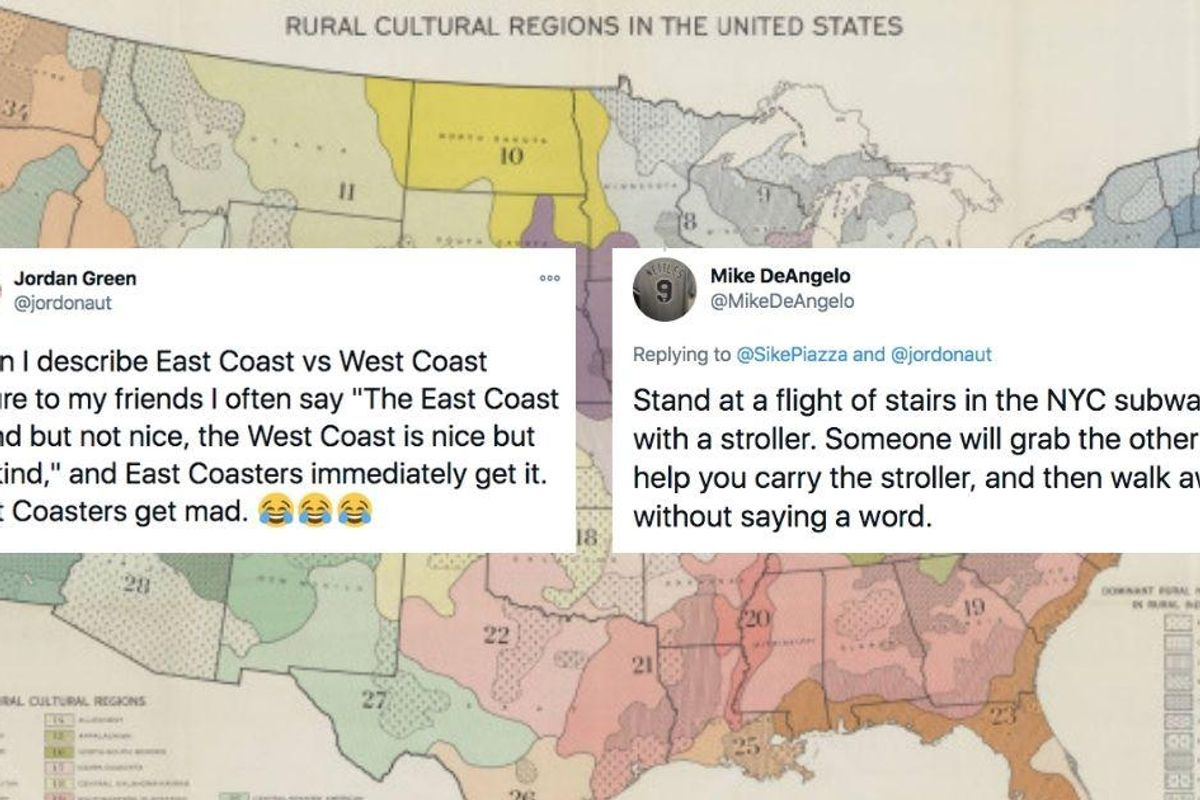 A viral post argues East Coast folks are better people even if they aren't as 'nice' as those out West