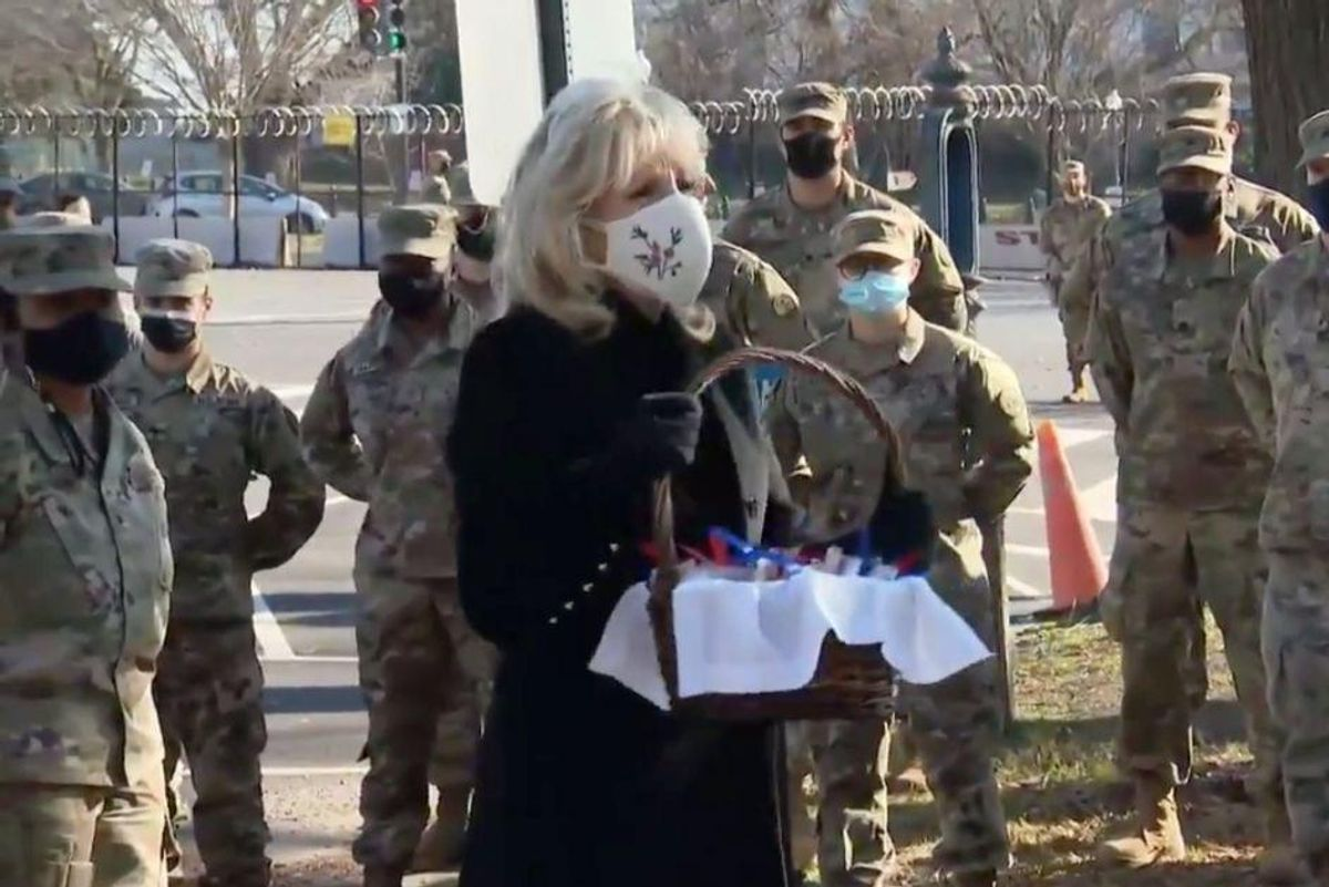 Jill Biden brought cookies to National Guard troops to thank them for keeping her family safe