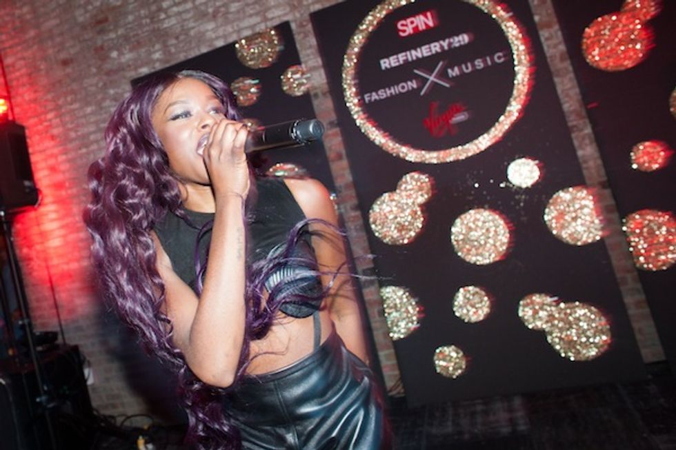 Azealia Banks + Hunters at Refinery 29 and SPIN's Pre-NYFW Bash