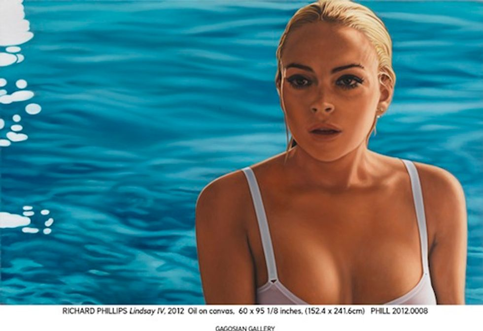 Lindsay Lohan and Sasha Grey Looking Sultry in a Preview of Richard Phillips' Gagosian Gallery Exhibit