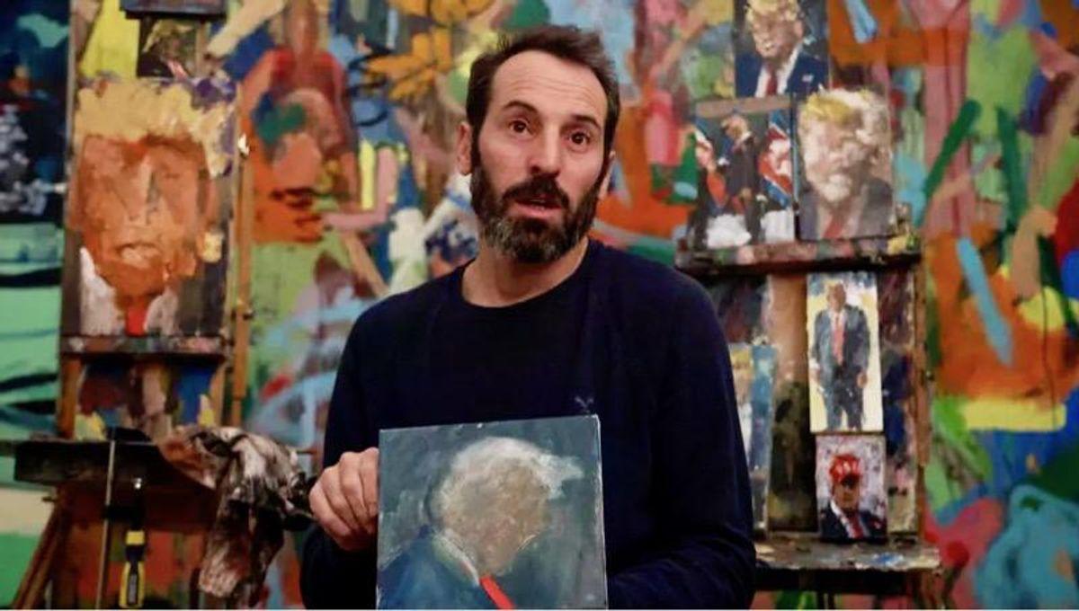 Israeli artist paints 120 shades of Trump