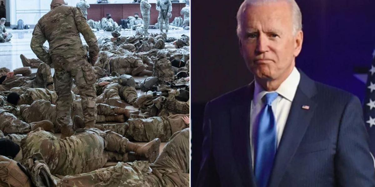 Biden Apologizes After National Guard Told To Sleep In Parking Lot