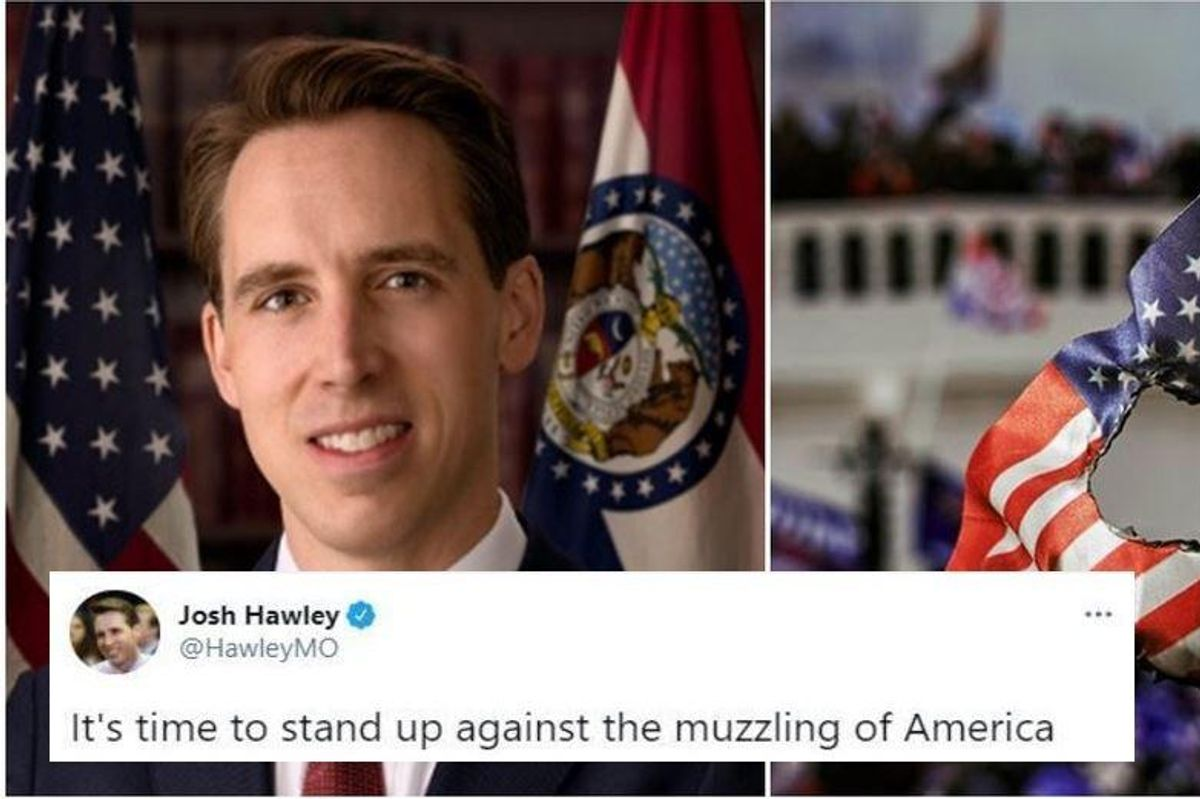 No, Josh Hawley, you're not being 'canceled.' This is what happens when a dumb coup fails.