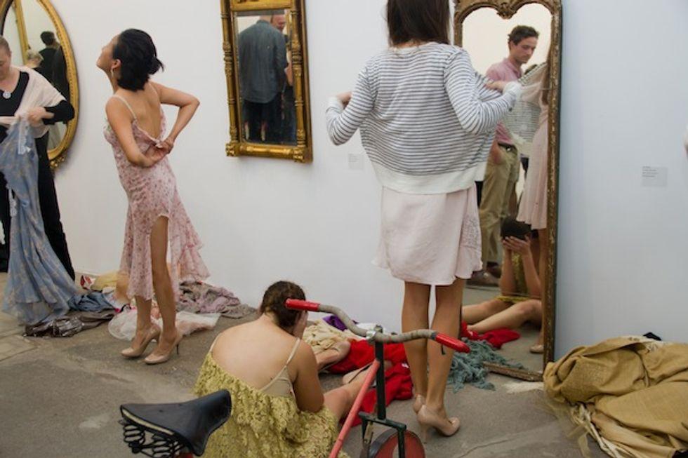 """Tara Subkoff's """"This Is Not a Fashion Show"""" at Bortolami Gallery"""