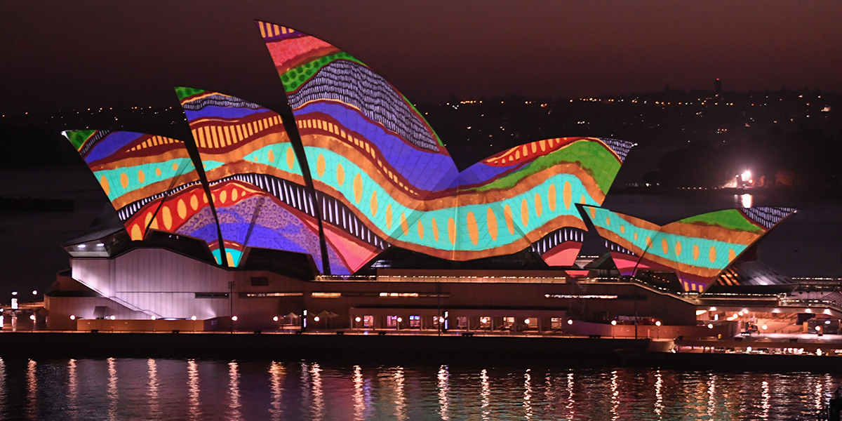 Sydney Opera House Lights Up With Beautiful Indigenous Art For First Time on Australia Day