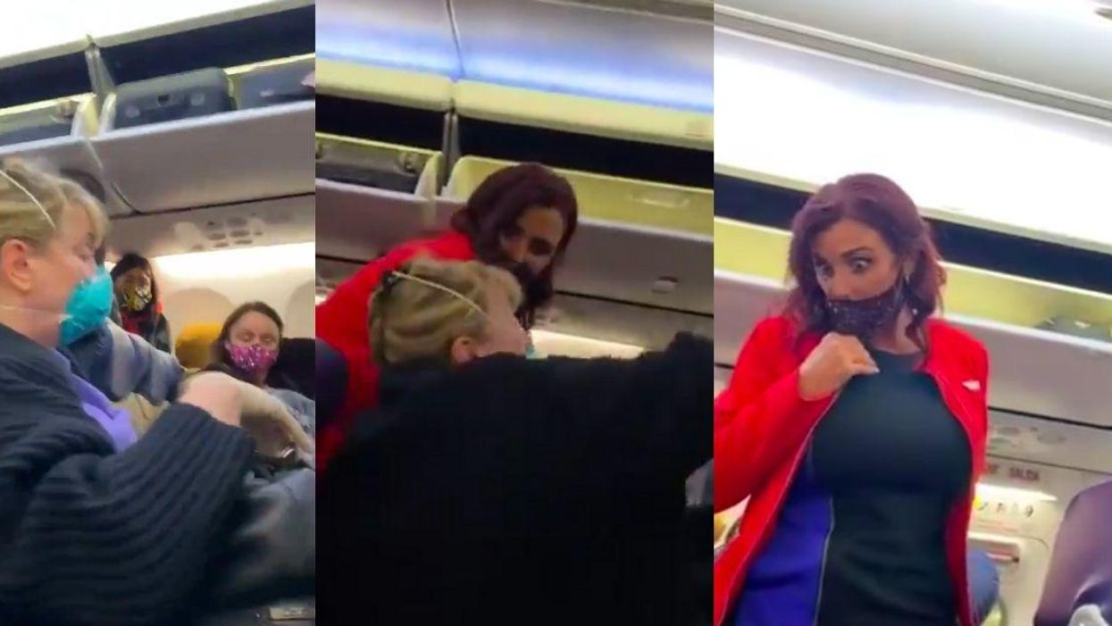 Woman Screams And Pretends Black Woman Attacked Her On Plane—But Flight Attendant Is Having None Of It