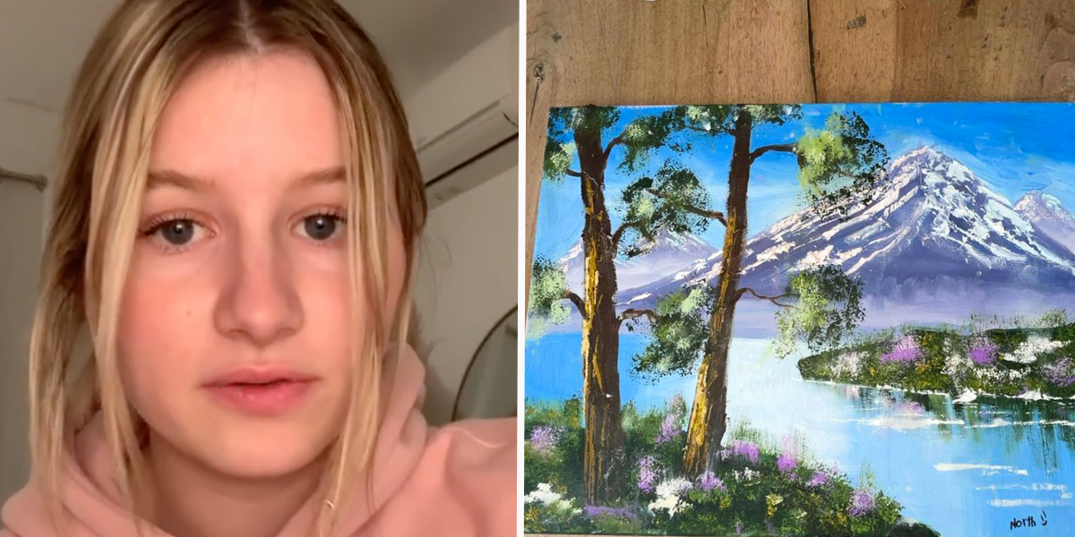TikToker Proves Kim Kardashian Wasn't Lying About North West's Painting