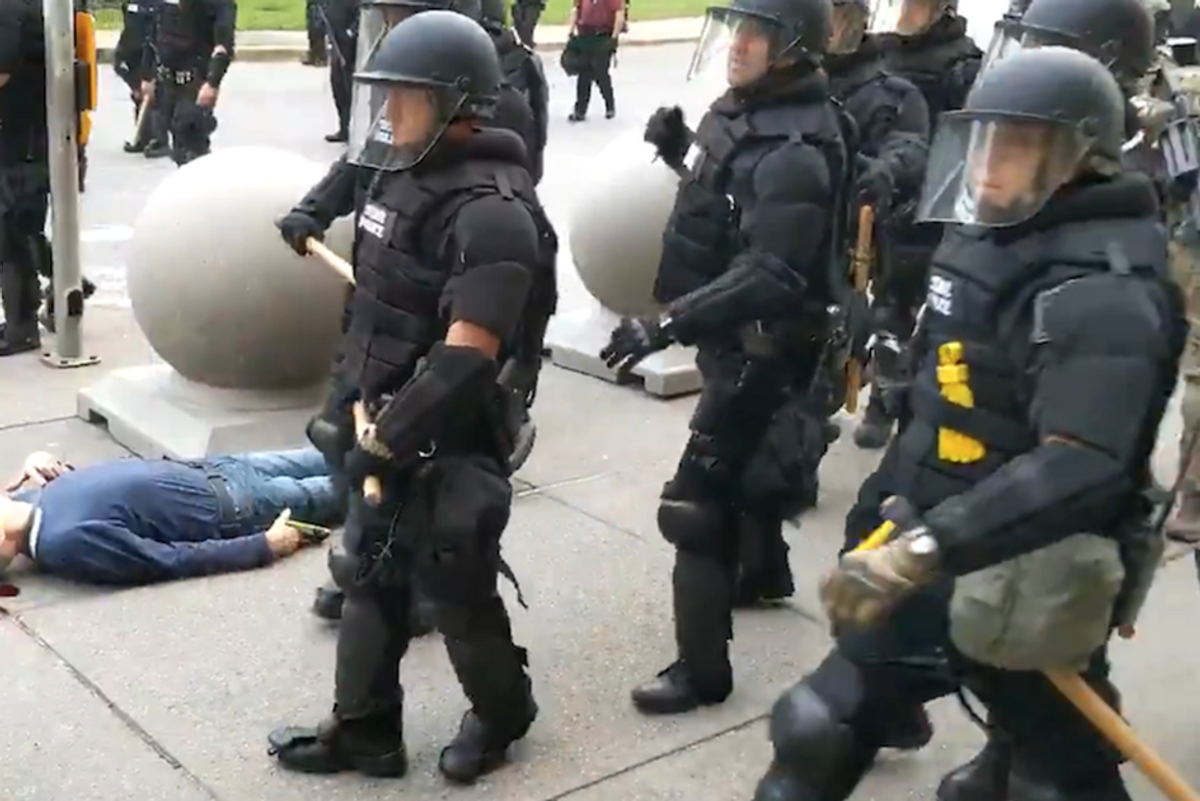 Charges dropped for Buffalo cops who fractured 75-year-old peaceful protester's skull