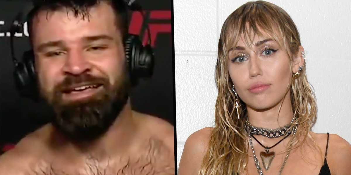 UFC Fighter Uses Victory Speech To Ask Miley Cyrus for Valentine's Day Date and She Responds