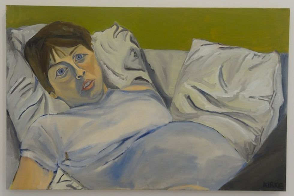 Tomorrow's Your Last Chance to See Jemima Kirke's Painting of a Pregnant Lady