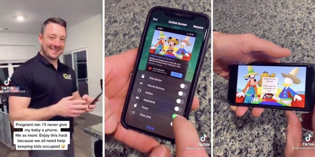 Dad's genius iPhone video hack is a gift for every parent out there with young kids