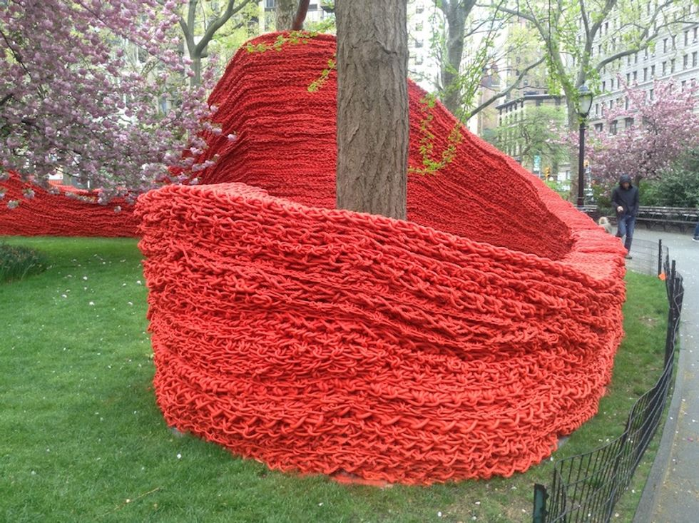 Madison Square Park Gets a Knitted Makeover