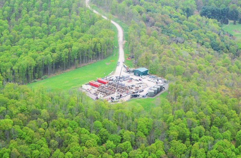 fracking well pad