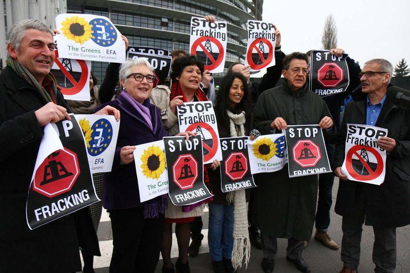 europe fracking protest