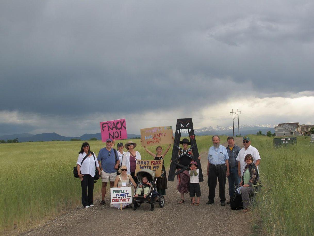 fracking protest colorado