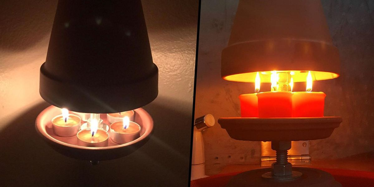 People Are Creating Mini Heaters Out of Flower Pots to Stay Warm While The Powers Out