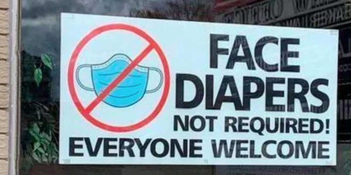 Florida Restaurant Goes Viral for 'Face Diapers Not Required' Mask Policy