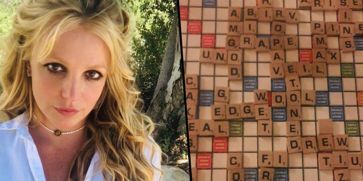 People Think Britney Spears Sent a Secret Message Through Her Scrabble Board