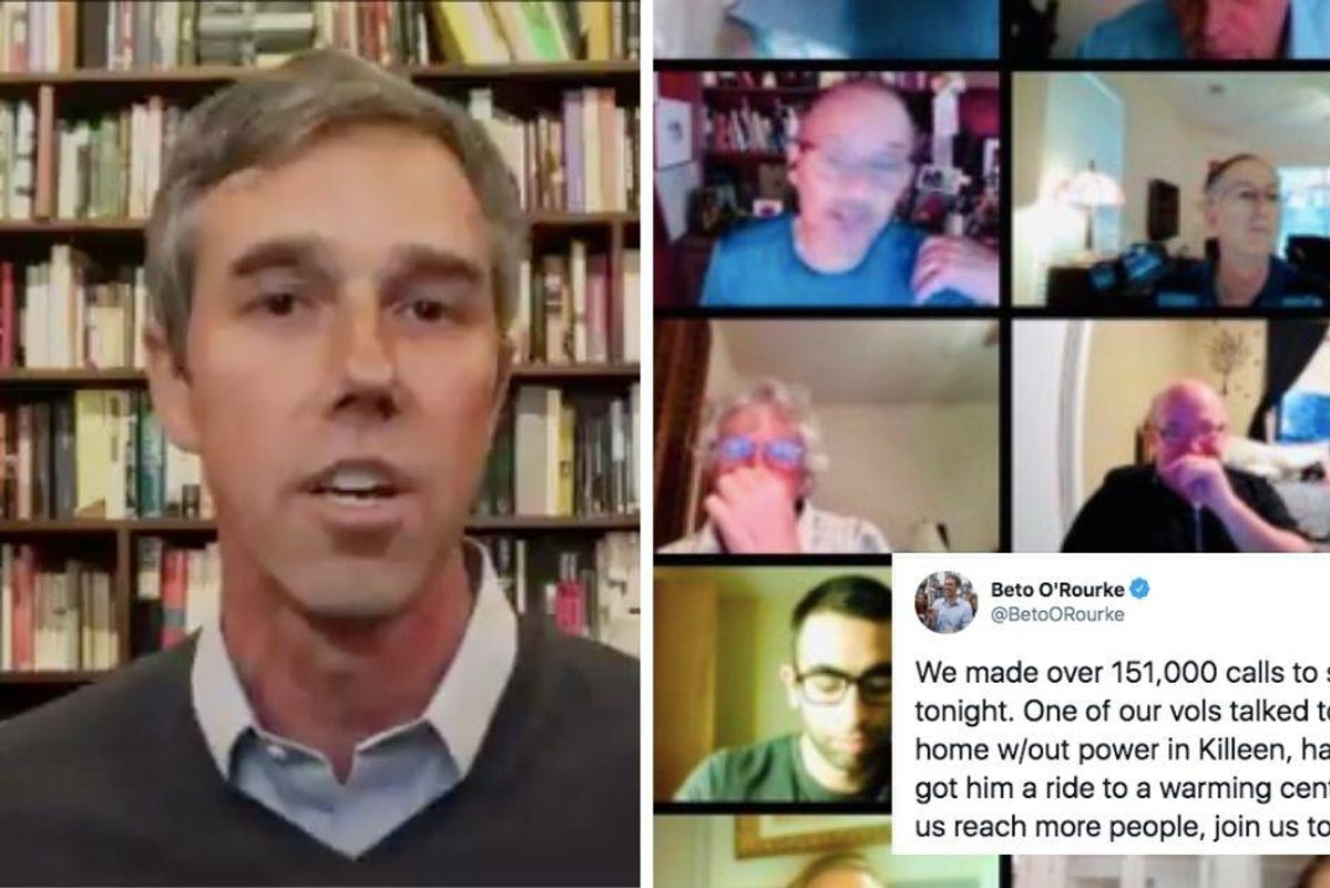 Beto O'Rourke is organizing thousands of welfare check-ins for elderly Texans