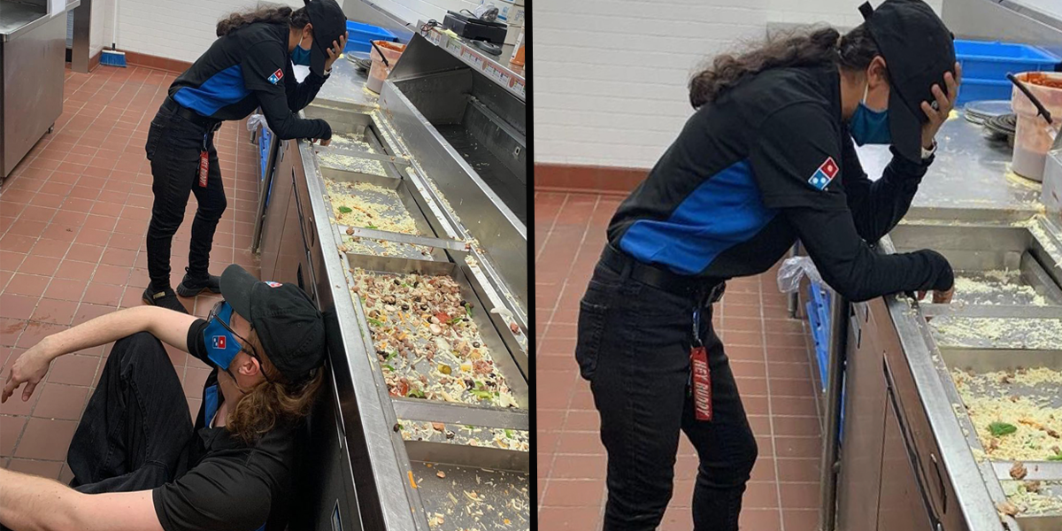 Exhausted Texas Domino's Employees Working Through Deadly Storm Run Out of Food in Four Hours