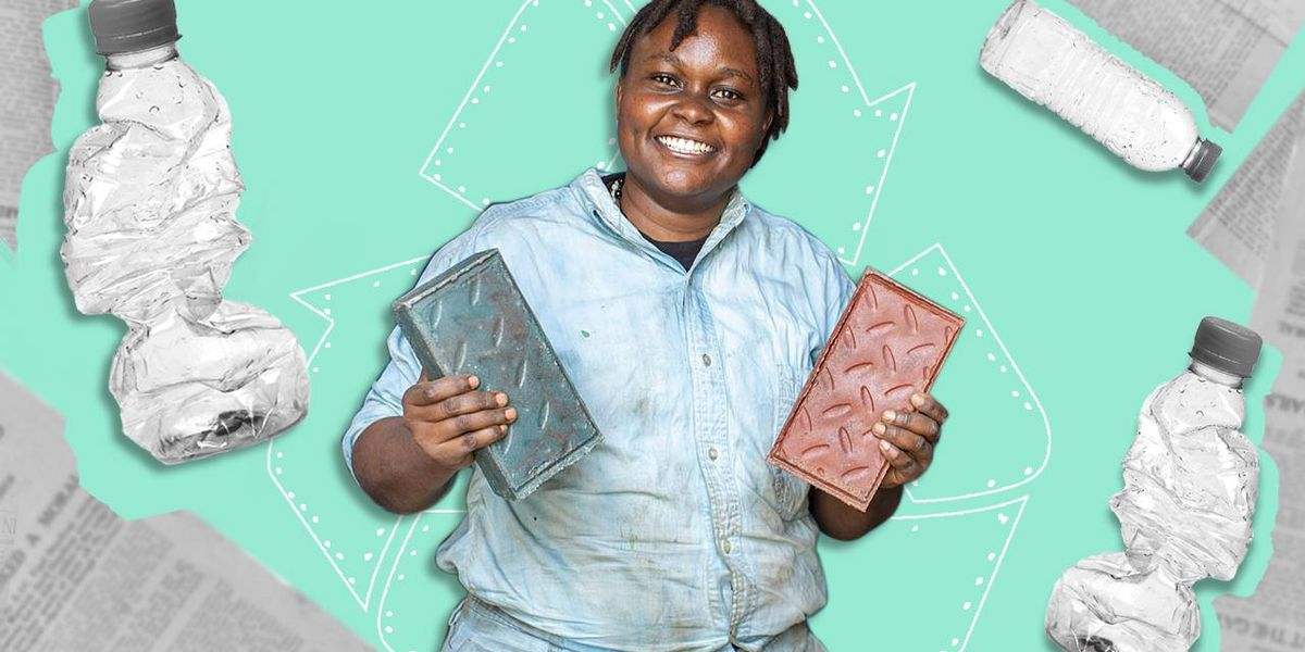 Kenyan Engineer Recycles Plastic Into Bricks Stronger Than Concrete