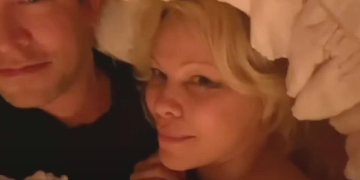 Pamela Anderson Gives Bizarre Interview From Bed With New Husband That Leaves Fans 'Cringing'
