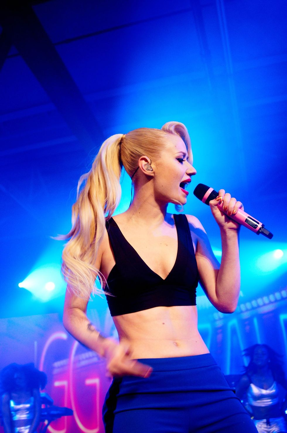 Pics from Club DKNY with Iggy Azalea + Rita Ora