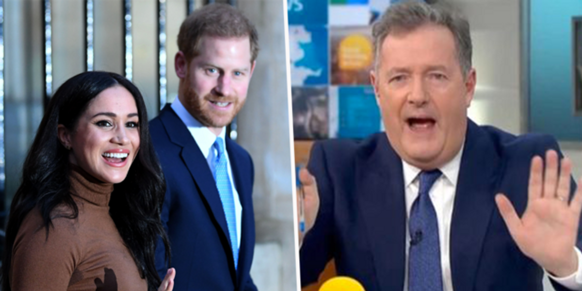 Piers Morgan Calls for Meghan Markle and Prince Harry To Be Stripped of All Titles