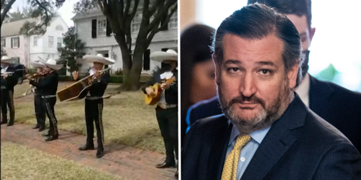 Mariachi Band Plays Outside Ted Cruz's House Following Cancun Trip Controversy