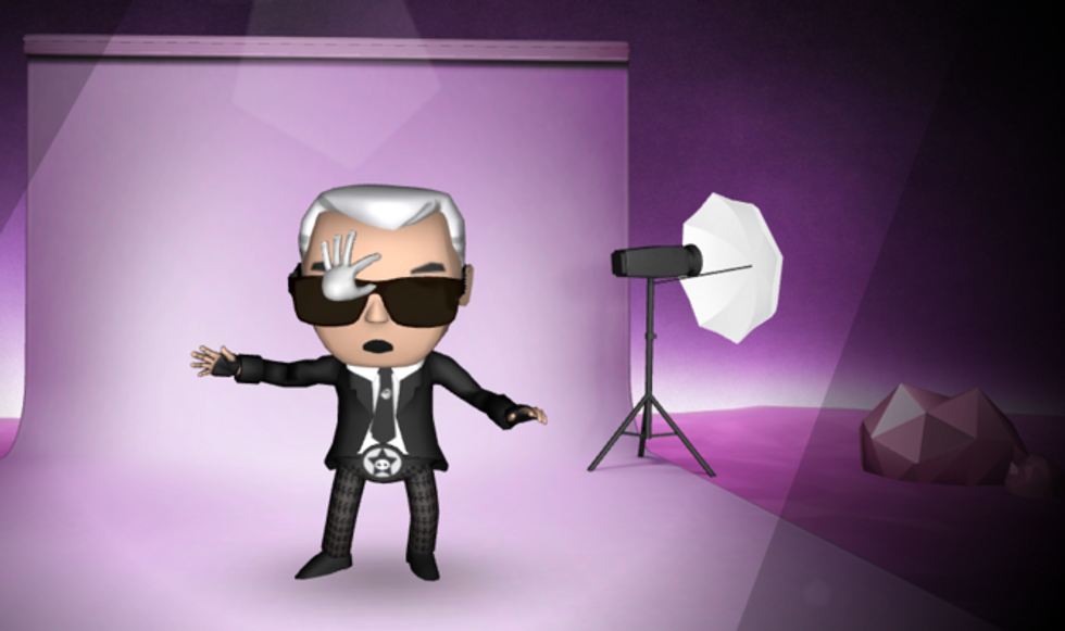 The Karl Lagerfeld Video Game: You Snatch His Sunglasses, He Insults You