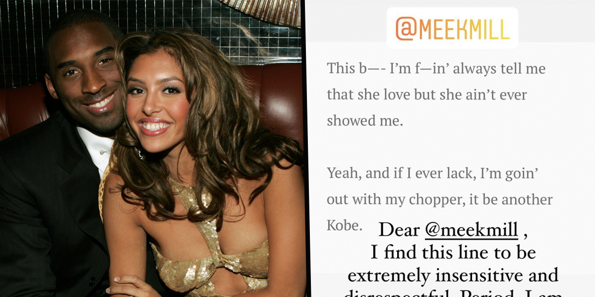 Vanessa Bryant Calls Out Meek Mill Over 'Insensitive' Lyrics About Kobe's Death