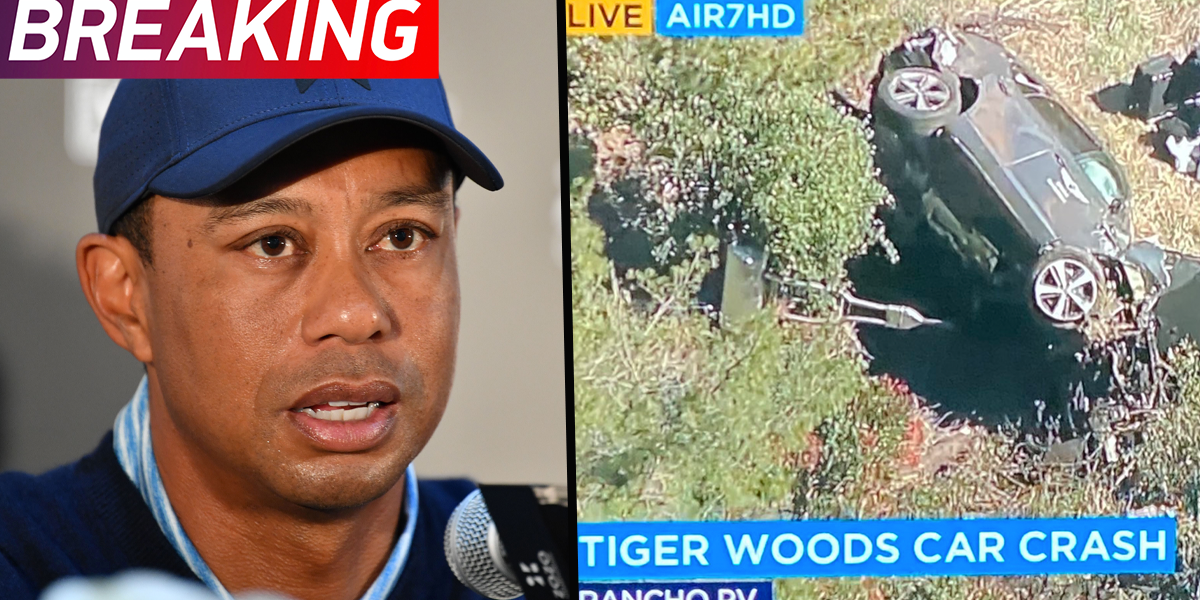 Tiger Woods Hospitalized After Being Involved In Car Crash