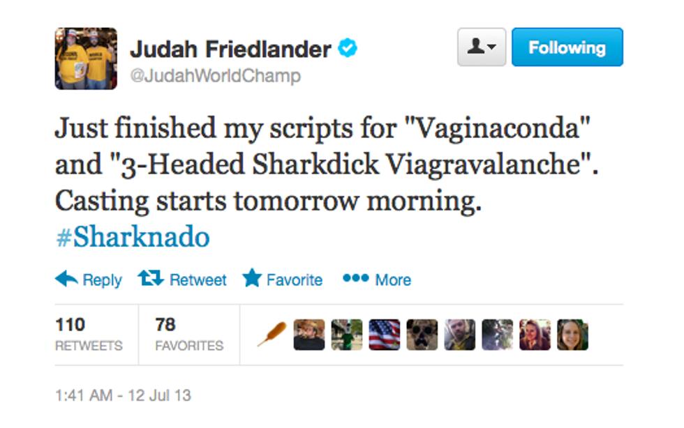 The Ten Best Celebrity Tweets About Sharknado