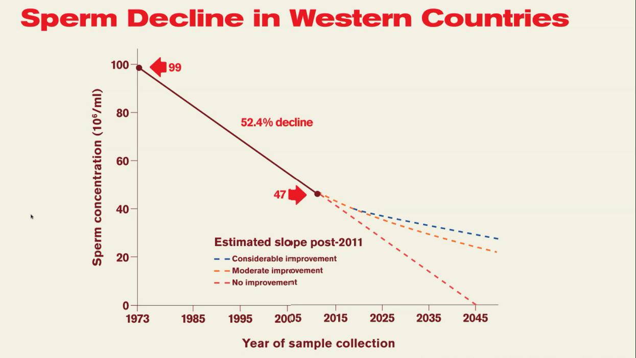 sperm decline in western countries, by Shanna Swan