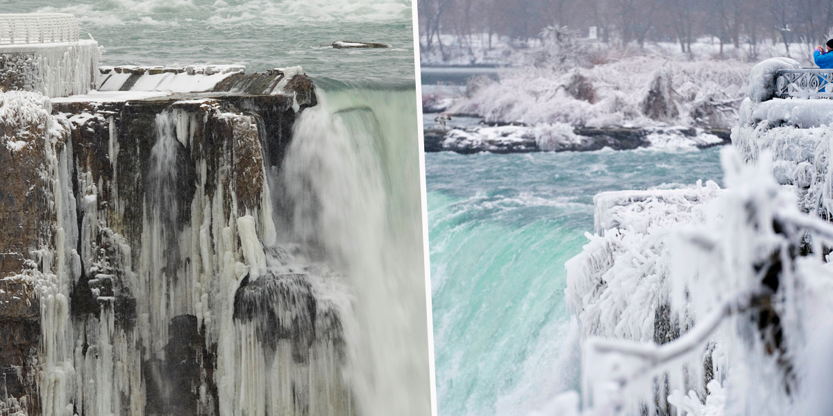 Niagara Falls Is Partially Covered in Ice and It's Absolutely Stunning
